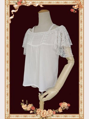 Infanta Chiffon Lace Flying Sleeve Lolita Blouse (IN874)