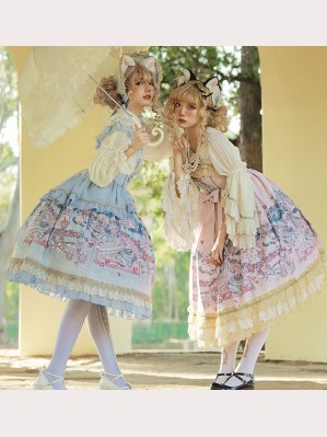 Infanta Cinderella Cats Classic Lolita Dress JSK - Design 2 (IN900)