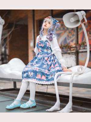 Infanta Strawberry Coffee Lolita Dress JSK & KC Set (IN901)
