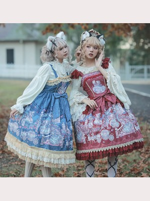 Infanta Cinderella Cats Lolita Dress JSK - Design 1 (IN904)