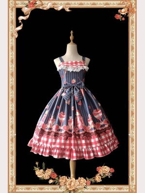 Infanta Strawberry Ice Cream Sweet Lolita Dress JSK (IN850)