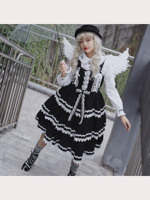 Infanta Three Layers Frill Lolita Dress JSK (IN949)