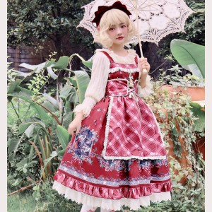Infanta Little Red Riding Hood Classic Lolita Dress JSK (IN946)