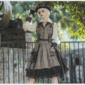 Infanta Adventurer Spirit Steampunk Lolita Vest & Skirt (IN948)