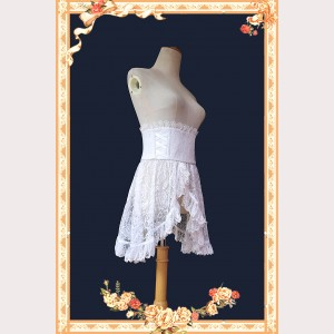 Infanta White Lace Overskirt Girdle (IN942)