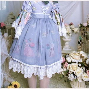Magic Tea Party Little Ida' s Flowers Lolita Apron (MP100)