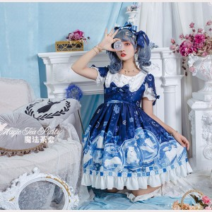 Magic Tea Party Summer of White Bear Lolita Dress OP (MP109)