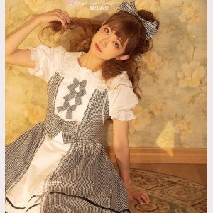 Magic Tea Party Sweet Classic Plaid Lolita Dress JSK (MP71)