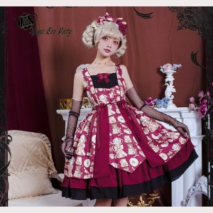 Magic Tea Party Roasted Coffee Lolita Dress JSK (MP74)