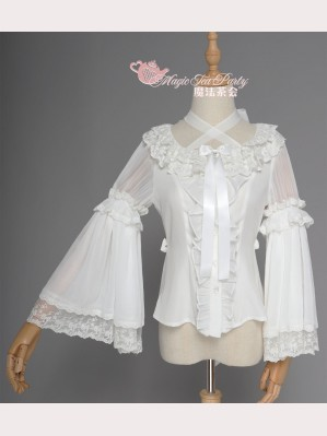 Magic Tea Party Fish in Dream Qi Lolita Blouse (MP77)