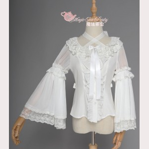 Magic Tea Party Fish in Dream Chinese Style Lolita Blouse (MP77)