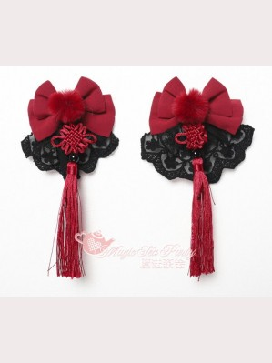 Magic Tea Party Fish in Dream Qi Lolita Hair Clips (MP79)