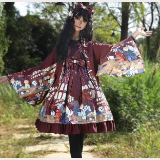 Magic Tea Party Japanese Fireworks Festival Lolita High-waisted Dress JSK (MP95)