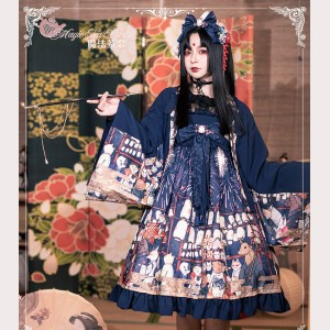 Magic Tea Party Japanese Fireworks Festival Lolita Extra  High-waisted Dress JSK (MP96)