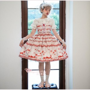 Magic Tea Party Strawberry Sheep Sweet Lolita Dress JSK (MP121)