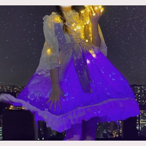 Noctilucent Jellyfish Sweet Lolita Style Dress JSK (HA64)