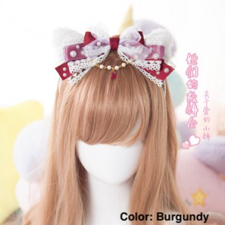 Handmade Cat Ears Headbow KC (AC03)