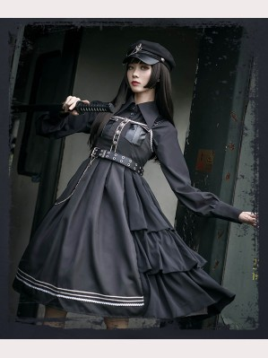 Nightlord Military Gothic Lolita Dress JSK by Cat Highness (CH01)