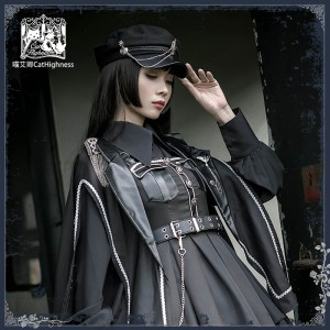 Nightlord Military Gothic Lolita Cloak by Cat Highness (CH02)
