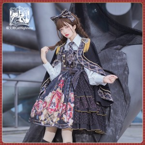 Rabbit Band School Lolita Dress JSK by Cat Highness (CH05)