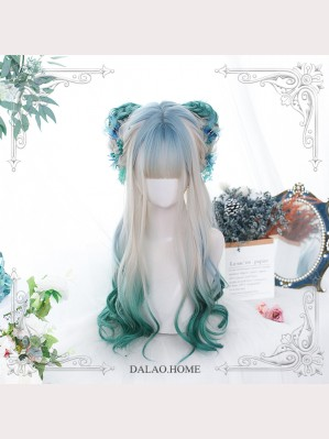 Snow On Green Pine Gradient Color Lolita Wig by Dalao.Home (DL12)