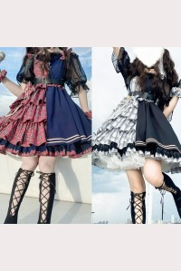 Mirror Girl Punk Lolita Style Dress JSK (DW01)
