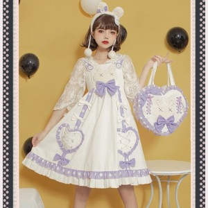 Sweet Heart Rabbit Sweet Lolita Style Dress JSK (ZM01)