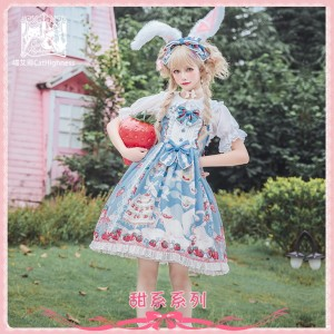 Strawberry Cat Sweet Lolita Dress JSK by Cat Highness (CH20)