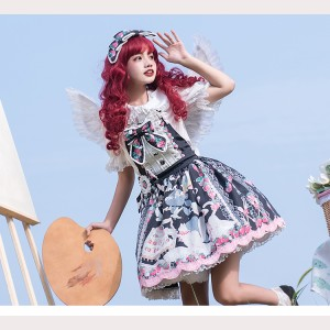 Strawberry Cat Sweet Lolita Jumper Skirt JSK by Cat Highness (CH21)