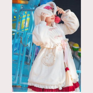 Rabbit Sweet Lolita Style Fleece Overcoat (KJ28)