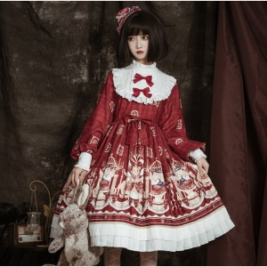 Vintage Bear Lolita Dress OP (BJ05)