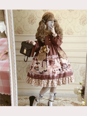 Chocolate Bear Lolita Dress OP (DJ23)