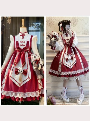 Chinese Chef Panda Lolita Dress OP (DJ25)
