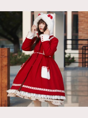 Bear Ears Sweet Lolita Style Overcoat (IL01)
