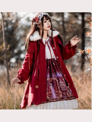 Bunny & Snow Winter Sweet Lolita Style Coat (KJ01)