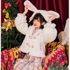 Dreaming Rabbit Ears Lolita Fleece Jacket (KJ04)