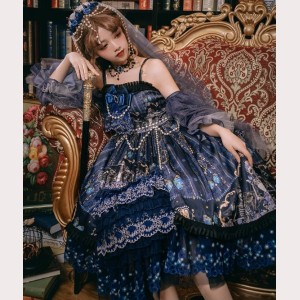 Music Of Deadly Butterfly Classic Lolita Dress JSK Full Set (SF01)