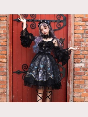 Music Of Deadly Butterfly Classic Lolita Dress OP Full Set (SF02)