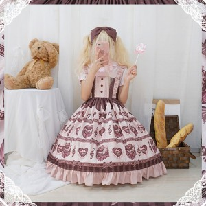 Heart Chocolate Sweet Lolita Style Dress JSK (CC01)