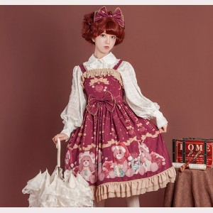 Gift Box Bear Sweet Lolita Style Dress JSK (CC02)