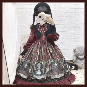 Doll Music Box Gothic Lolita Style Dress OP (CC04)