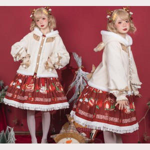 Christmas Deer Horn Sweet Lolita Style Cloak Jacket (CM01)