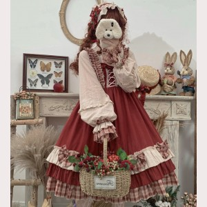 Little Red Riding Hood Berry Girl Sweet Lolita Style Dress OP (CM03)