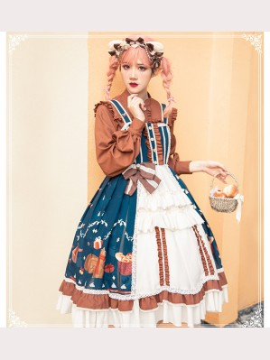 Squirrel Christmas Sweet Lolita Style Dress JSK (CM05)