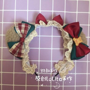 Christmas Bear Ears Lolita Style KC (CM11)