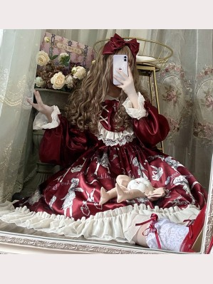 Angel Doll & Thorn Rose Gothic Lolita Style Dress (DJ02)