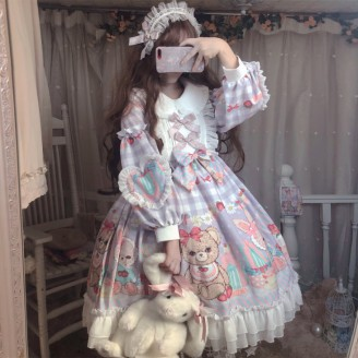 Strawberry Bear Lolita Style Dress OP (DJ14)