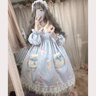 Donuts Rabbit Lolita Style Dress (DJ16)