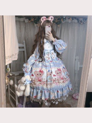 Bear Biscuit Lolita Style Dress OP (DJ18)