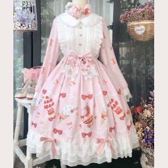 Strawberry Dessert Lolita Style Dress OP (DJ20)